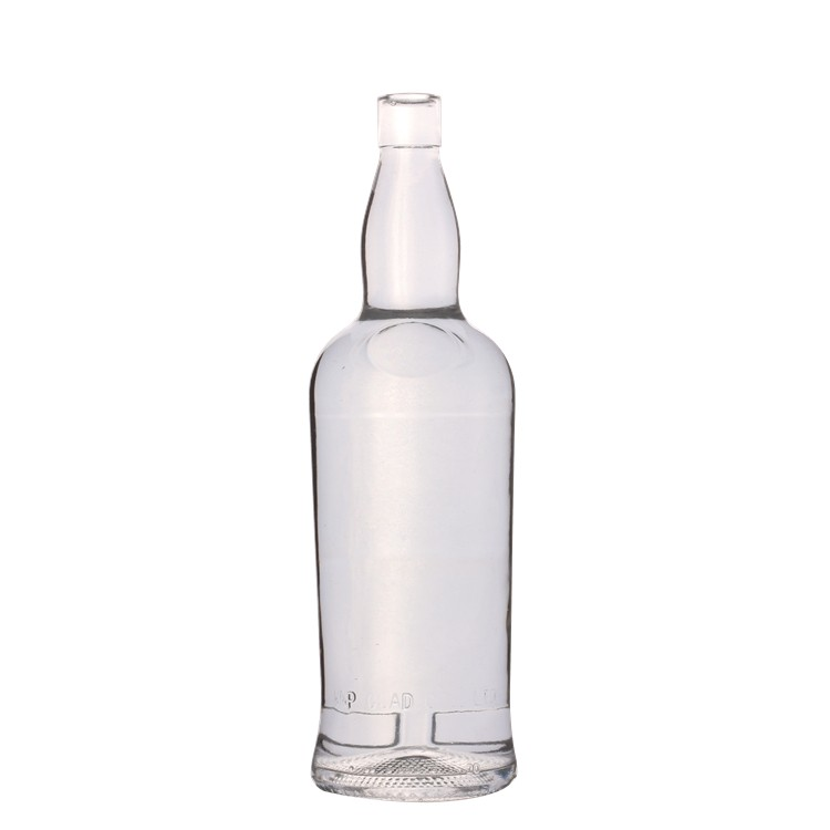 Hot selling custom empty clear wine bourbon bottles 1000ml glass whisky