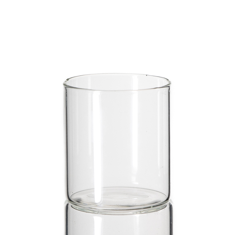 Glass Material Eco-Friendly Feature borosilicate glass storage jar with bamboo press lid