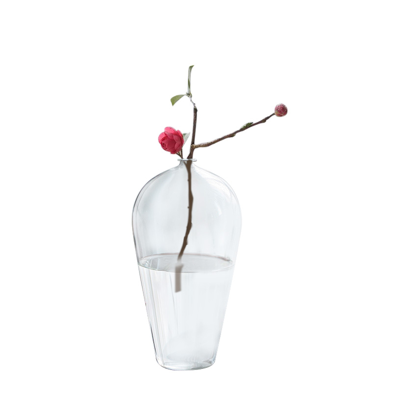 Wholesale Clear Round Shape Mouthblown Wedding Decorative Transparent Round Glass Vase