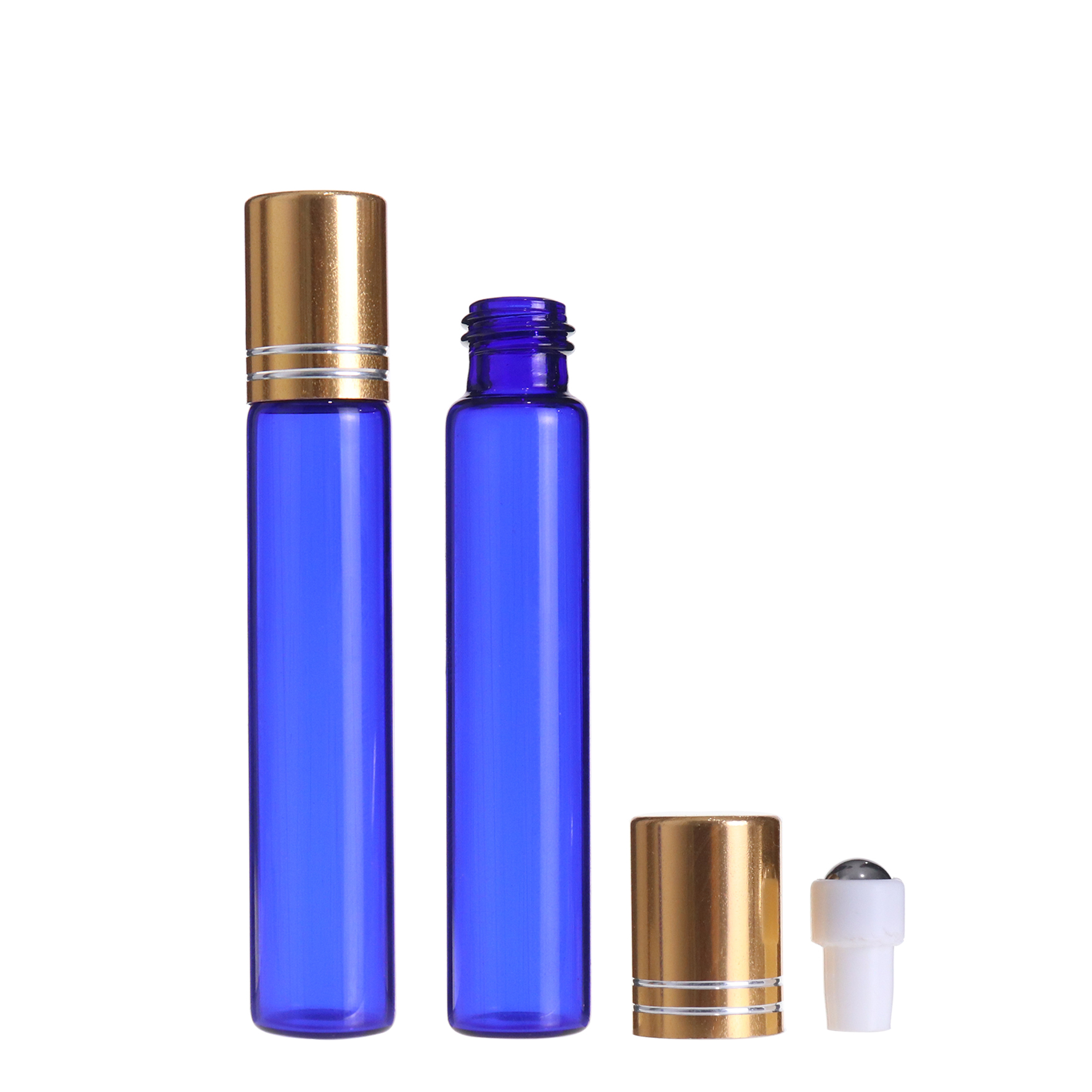 eye rolls on bottle 10ml blue glass deodorant essential oils vials with roller ball