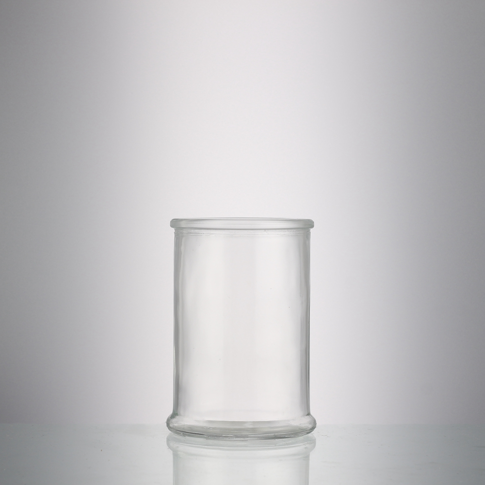 Unique shape empty 350 ml ml storage food clear jam glass jar with cover