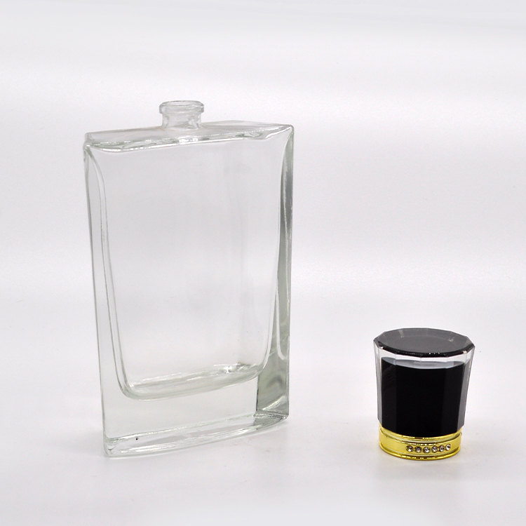 High end perfume packaging 100ml crystal perfume glass bottle