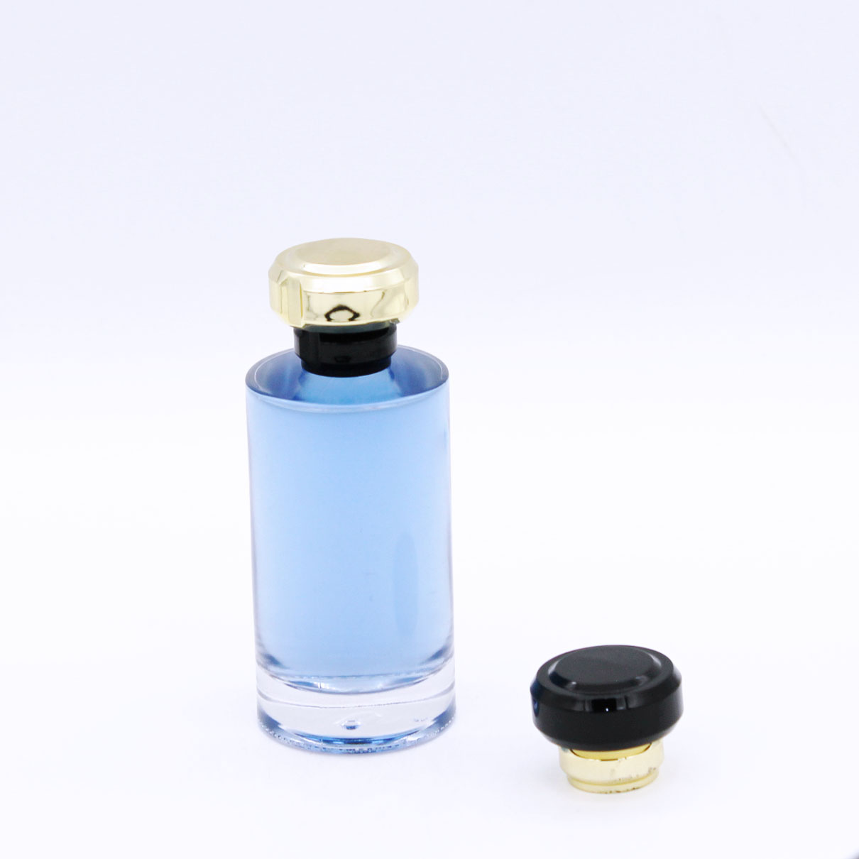 round elegant transparent high quality wholesale 100ml glass bottles perfumes