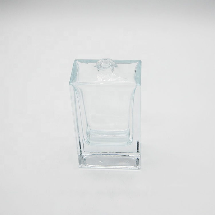 2019 wholesale price 30 Ml 50ml Clear Black Empty Flacon Frosted Glass Perfume Bottle