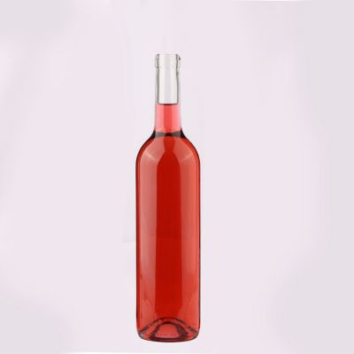 750ML   Glass Red Wine Bottle with Cork cap