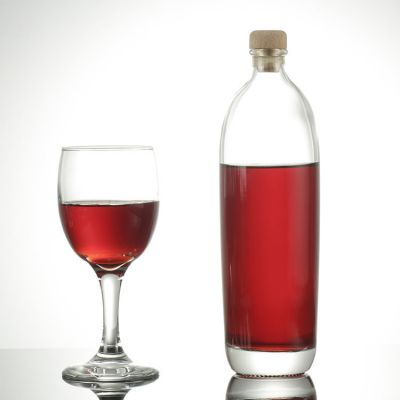 Fancy 500ml glass rice wine bottle for liquor spirit packaging