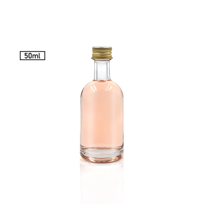 Miniature Bottle 2oz 50ml Mini Glass XO Bottle Alcohol Drink Liquor Wine Whisky Bottle With Screw Lid For Spirits