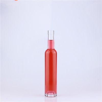 Wholesale Clear 200 ml Glass Fruit Wine Bottle with Cork