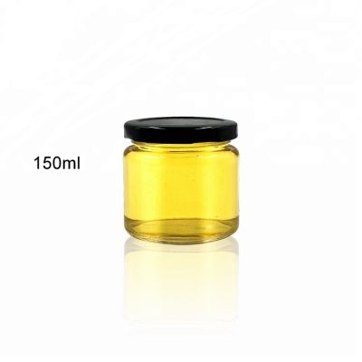 150ml glass storage jar round glass jar for food