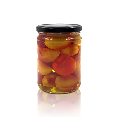 375ml Clear Pickle Glass Jar With 75mm Twist Off Lid