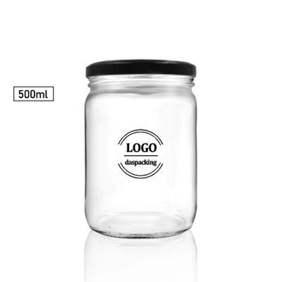 500ml clear wide mouth bottle /jar for honey package