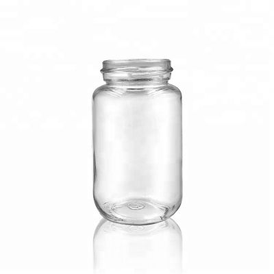 Empty Glass Panelled Jar 250ml for Food