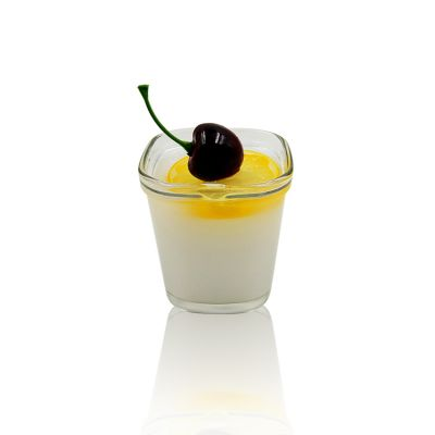 Xuzhou 5oz 150ml square glass pudding jar