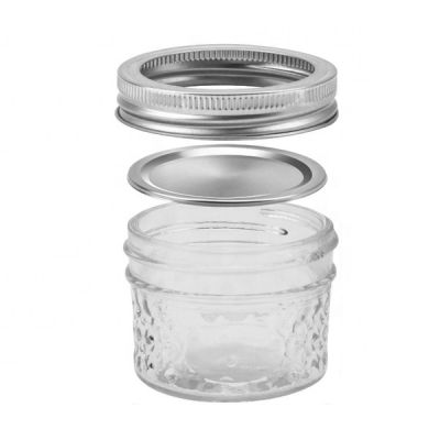 Whole 100 ml regular mouth Mason Jar With Lids And Straw For Wedding Favors
