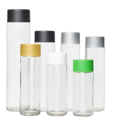 250 300 350 400 500 800 ml Clear Glass Water Bottle with Plastic Cap