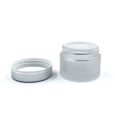 50ml frosted glass face cream jar
