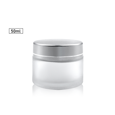 Matte Surface Sample Jar 50ml glass cosmetic jar for lip balms, creams, ointments