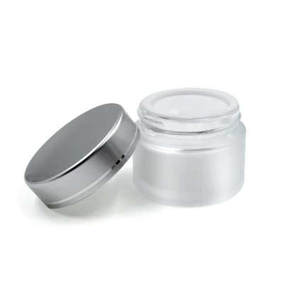 Matte surface handing 50ml frosted glass cosmetic jars