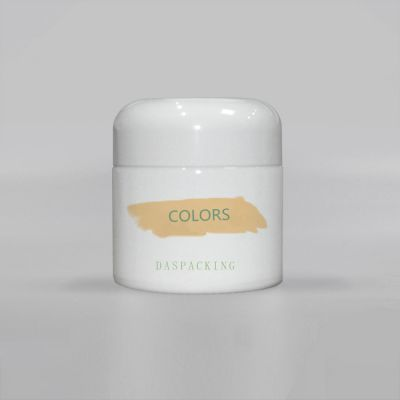 New design 120ml opal porcelain white glass cosmetic cream jar luxury for face cream