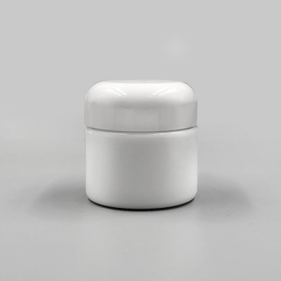 Skin cream packaging 50g opal white glass cosmetic jar with urea bakelite white lid