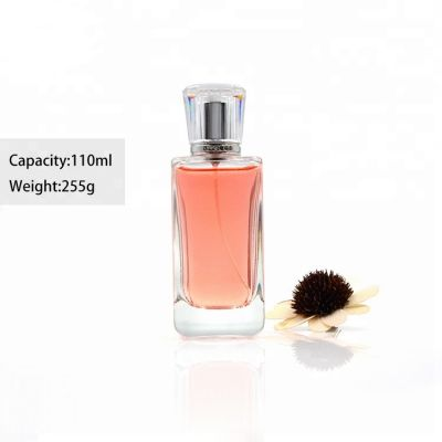 Design your own brand 110ml crystal glass perfume bottle factory