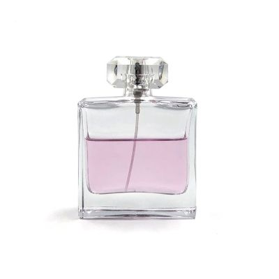 100ml classic fancy square transparent glass pump spray perfume bottle