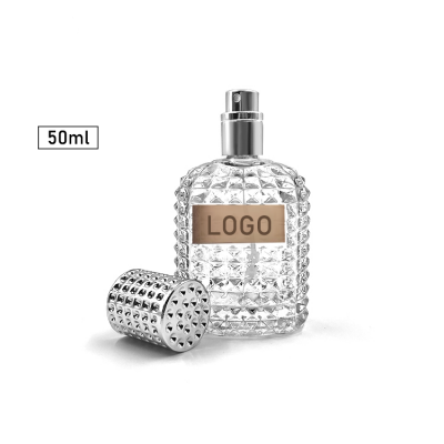 Empty 50ml Perfume Glass Bottle With Non-slip surface