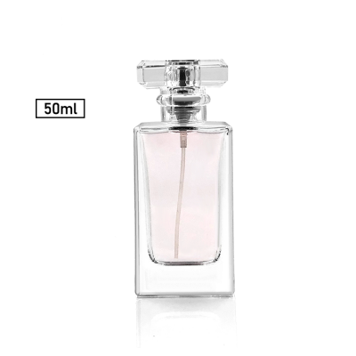Square decorative crystal perfume bottle 50ml