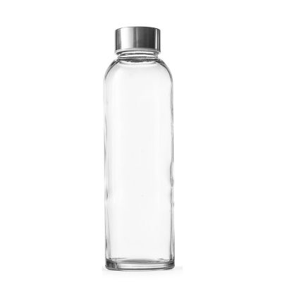 ECO Friendly Crystal 16 oz Glass Water Bottle with Cap