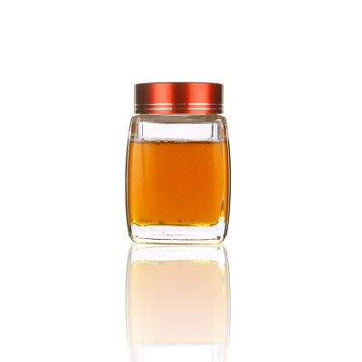 180ml 6oz square empty small jam honey glass bottle with screw cap