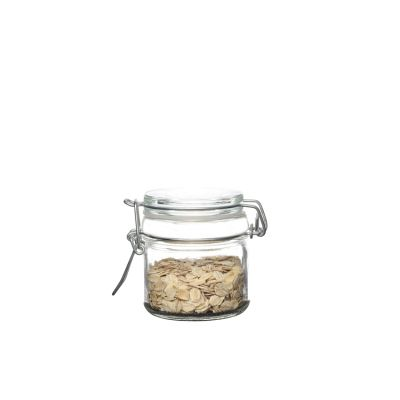 100ml Glass Storage jar with glass cover for food