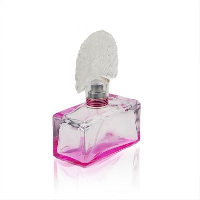80 ml Square Glass Perfume Glass Bottles With Peacock Shape Perfume Bottle Cap