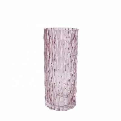 wholesale Home decor cheap crystal clear tall cylinder glass vase