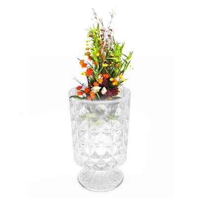 European Style Crystal Glass Vase Flowers Decoration Handmade Factory Direct Sale