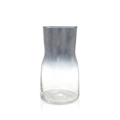 Wholesale Antique large/giant floor vase / gray clear art glass vase for home decor