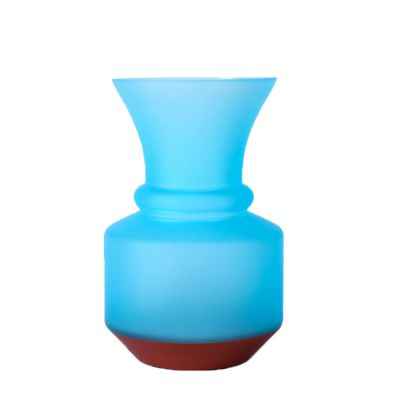 wholesale frosted colored glass vase European-style glass flower vase for wedding home decoration