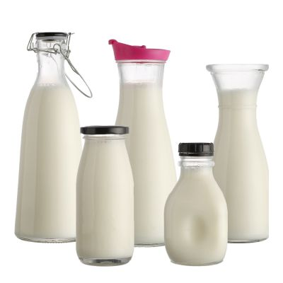 Kinds of 1l 250ml 500ml 1000ml Juice Water Glass Milk Bottle For Drinking