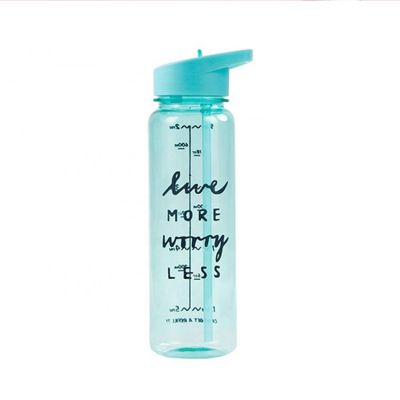 Ins hot sale easy carry glass water bottle beautiful elegant glass water cup