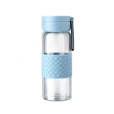 Transparent color high borosil material heat resistant water glass cup water bottle