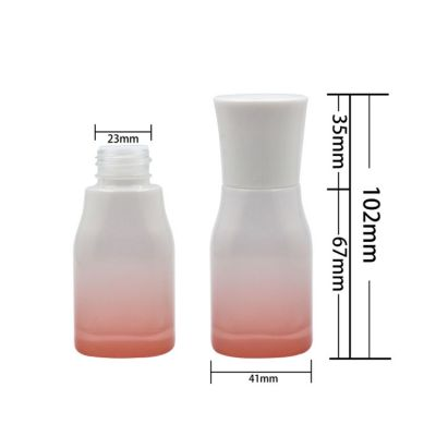40ml 50ml 80ml 100ml 120ml 150ml 200ml Gradient color spray glass lotion pump bottle