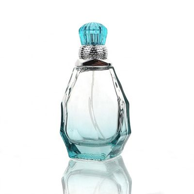 Factory Price Luxury 85ml Unique Shaped Empty Glass Hanging Perfume Bottle