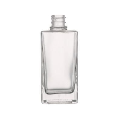 Custom made crystal white material liquor wine square shape 350 ml glass bottle with screw