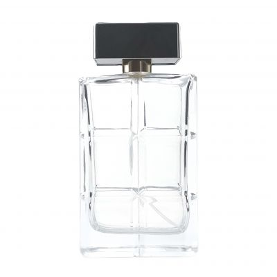 120ml Good quality recycled empty square glass perfume bottles 120ml with spray