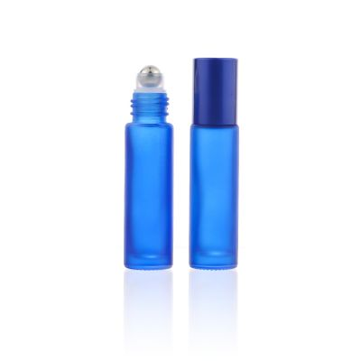 Whosale 10ml blue roller glass bottle perfume essential oil Customize colourful Cosmetic Bottle