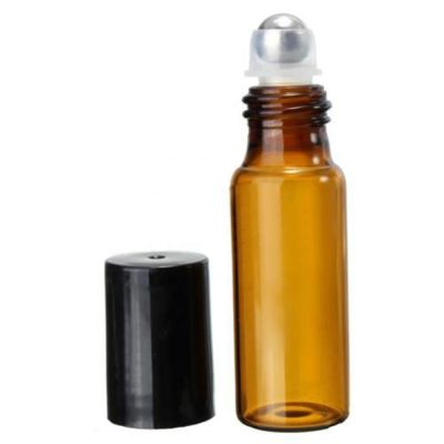 5ml/10ml Amber Roll On Glass Bottles Roller Ball for Perfume Essential Oil