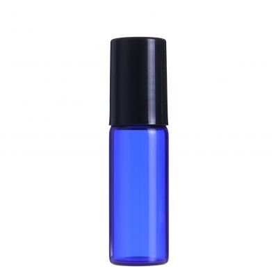 Glass Roll On eye cream perfume bottle Refillable essential oil roller Bottles 5ml with glass Roller Ball Cap Bulk