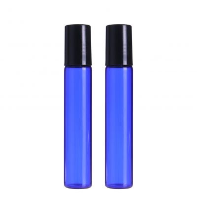 3ml 5ml 10ml roll on bottle blue glass perfume vial round deodorant bottles for attar