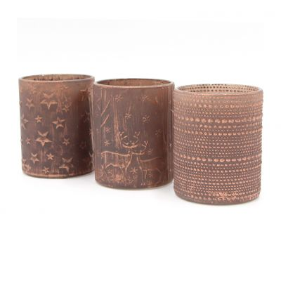 Hot Sale 20oz Brown Candle Jar Glass Candle Vessel for Decoration
