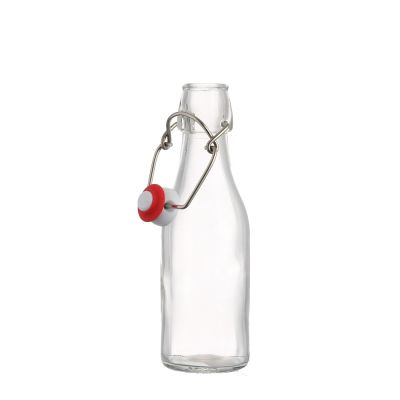 Hot sale Swing top clear Beer Glass Bottles 250ml top glass beer bottle