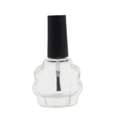 Special shape 10ml custom color nail polish glass bottles with brush caps